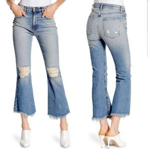 NWT Current Elliott High Waist kick jeans